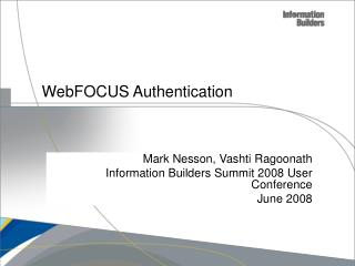 WebFOCUS Authentication
