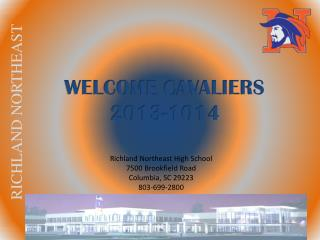 WELCOME CAVALIERS 2013-1014