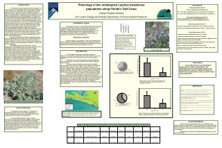 Phenology of two endangered  Lupinus westianous  populations along Florida's Gulf Coast