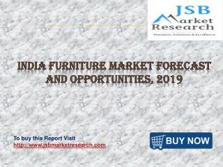 India Furniture Market Forecast and Opportunities, 2019