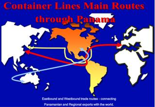 Container Lines Main Routes through Panama