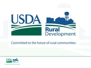 RURAL DEVELOPMENT WATER & WASTE PROGRAMS