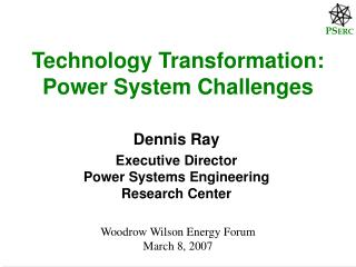 Technology Transformation: Power System Challenges