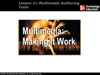 Lesson 11- Multimedia Authoring Tools