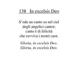 138 In excelsis Deo