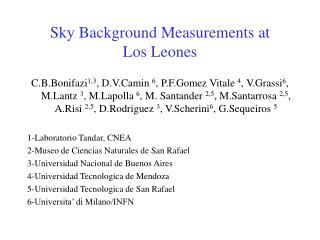 Sky Background Measurements at  Los Leones