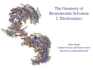 The Geometry of Biomolecular Solvation 2. Electrostatics