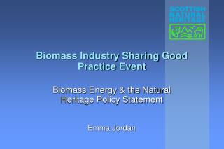 Biomass Industry Sharing Good Practice Event