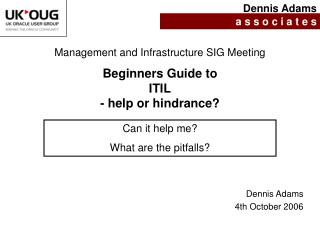 Beginners Guide to  ITIL - help or hindrance?