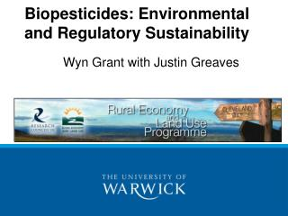 Biopesticides: Environmental and Regulatory Sustainability