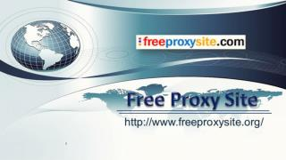 Free Proxy Site