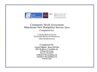 Community Needs Assessment  Manchester New Hampshire Service Area Completed for: