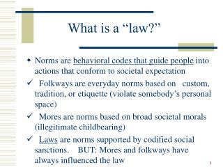 "What is a ""law?"""