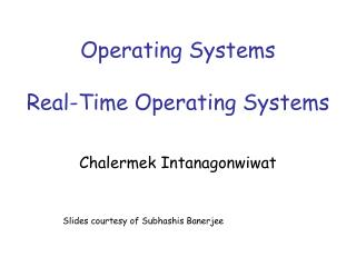 Operating Systems Real-Time Operating Systems