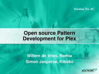 Open source Pattern Development for Plex