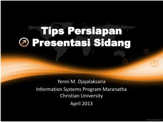 Tips  Persiapan Presentasi Sidang