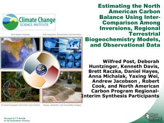 North America Carbon Program  Synthesis Objectives