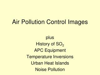 Air Pollution Control Images