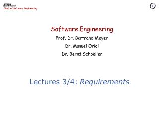 Lectures 3/4:  Requirements
