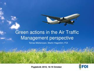 Green actions in the Air Traffic Management perspective