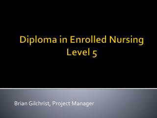 Diploma in Enrolled Nursing Level 5