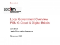 Local Government Overview PSN G-Cloud  Digital Britain