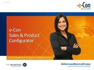 e-Con Sales & Product Configurator