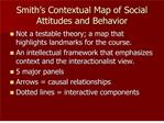 Smith s Contextual Map of Social Attitudes and Behavior