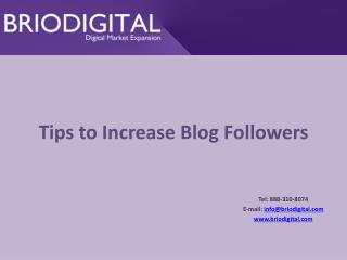 Tips to Increase Blog Followers