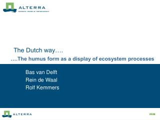 The Dutch way….