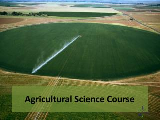 Agricultural Science Course