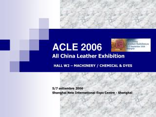 ACLE 2006 All China Leather Exhibition