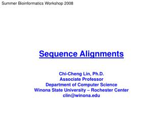 Sequence Alignments
