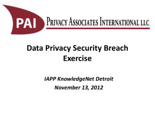 Data Privacy Security Breach Exercise