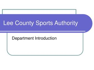 Lee County Sports Authority