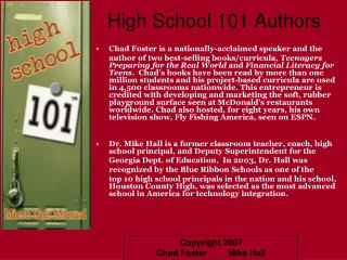 High School 101 Authors