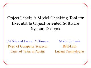 ObjectCheck: A Model Checking Tool for Executable Object-oriented Software System Designs