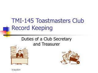 TMI-145 Toastmasters Club Record Keeping