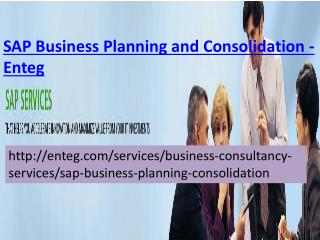 SAP Business Business Planning and Consolidation-Enteg