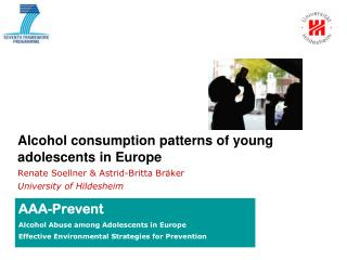 Alcohol consumption patterns of young adolescents in Europe