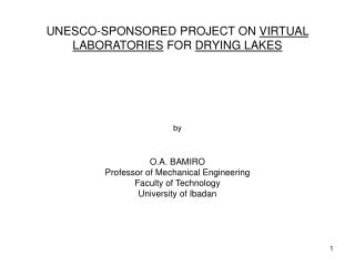 UNESCO VL PROJECT OBJECTIVE