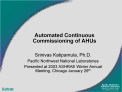 Automated Continuous Commissioning of AHUs