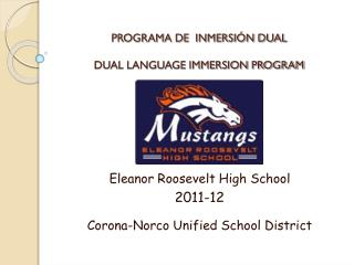 PROGRAMA DE  INMERSIÓN DUAL DUAL LANGUAGE IMMERSION PROGRAM