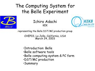 The Computing System for the Belle Experiment