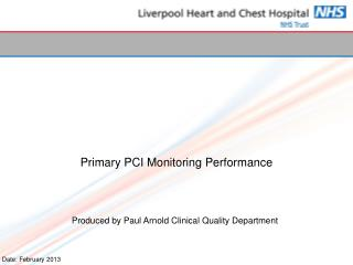 Primary PCI Monitoring Performance