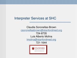 Interpreter Services at SHC