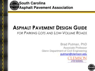 Asphalt Pavement Design Guide for Parking Lots and Low-Volume Roads