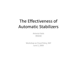 The Effectiveness of Automatic Stabilizers