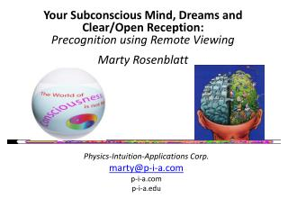 Physics-Intuition-Applications Corp. marty@p-i-a.com p-i-a.com p-i-a.edu