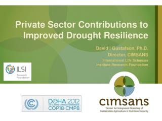 Private Sector Contributions to Improved Drought Resilience